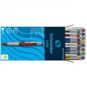 Schneider Novus Vertriebs GmbH Schneider Loox Kugelschreiber, Schreibstift für exzellenten Schreibkomfort, 1 Packung = 20 Stück, farbig sortiert