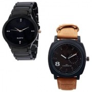 New brand super fast selling iik black cureen luxury analog watch for boys men.