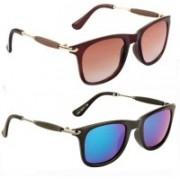 SRPM Wayfarer Sunglasses(Brown, Green)