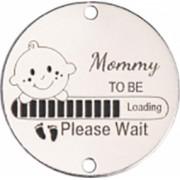 Bratara Mommy to Be banut Ag 925 viitoare mamica snur reglabil rosu Artemis Gift