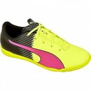 Puma voetbalschoenen EvoSpeed 5.5 TT fluorgeel/fluorroze mt 37