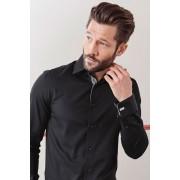 Mens Next Signature Textured Shirt - Black