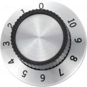Buton cu scala tip RN-114A, Ø ax 6 mm, 36.8 - 14.8 mm, linie indicatoare 1 - 10