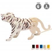 3D Puzzle De Pintura Forma Del Tigre