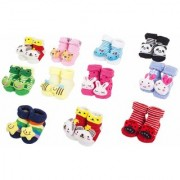 SO CUTE SOFT Beautiful baby Booties Set Of 6 Pairs Size 0 - 9 Month- Wonderful Gift For Little Champions Winter Care