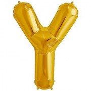 Stylewell 16 Inch Alphabet (Y) Soild (Golden) Color 3D Foil Balloons For Birthday And Anniversary Parties Decoration