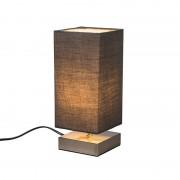QAZQA Lampe de table Milo carré gris