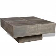 vidaXL Coffee Table Mango Wood Square Dark Brown