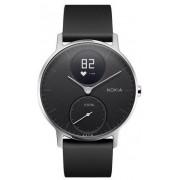 Nokia Steel HR Wristband activity tracker Nero, Acciaio inossidabile Senza fili