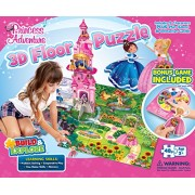 Buffalo Games: Princess Adventure 3D Floor Puzzle & Game - 48 Piece Jigsaw Puzzle and Game