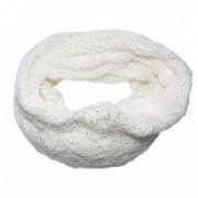 Fular dama Eve circular din tricot blanita paiete D and J Exclussive alb