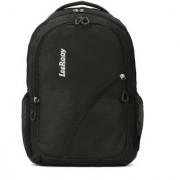 BG016BLK LeeRooy Canvas 18 Ltr Black School Bag Backpack For Unisex