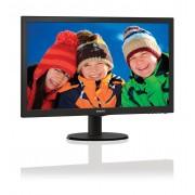 "Philips V-line 223V5LSB - Monitor LED - 21.5"" - 1920 x 1080 Full HD (1080p) - 250 cd/m² - 1000:1 - 5 ms - DVI-D, VGA - preto op"