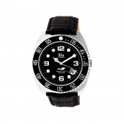 Reign Quentin Automatic Pro-Diver Leather-Band Watch w/Date - Silver REIRN4905