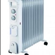 Mаслен радиатор Finlux FR-1325H WH, защита срещу прегряване, овлажнител, 2500W, сив