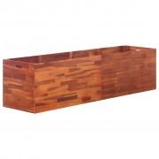 vidaXL Jardinieră de grădină, lemn de acacia, 200 x 50 x 50 cm