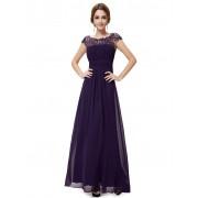 Fialové krajkové šaty