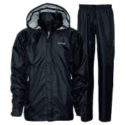Didriksons Tigris Unisex Rainwear / Anoraks Set Top & Bottom Black 548175