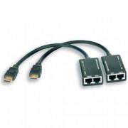Techly Amplificatore HDMI Cat 5e/6 Compatto 30m