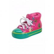 Merkloos Roze schoen spaarpot 14 cm