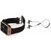 Zemini DZ09 Smart Watch and Reflect Earphone for SAMSUNG GALAXY NOTE EDGE(DZ09 Smart Watch With 4G Sim Card Memory Card| Reflect Earphone)