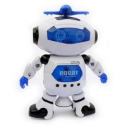 StyloHub Battery Operated Naughty Dancing Robot Kids Toy With Light Music. 360 Swivel Function!