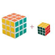 FunBlast™ 2-in-1 cube,3x3x3 Sticker Speed Cube Smooth Magic Cube Puzzle Vivid Colors, Multicolor