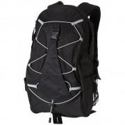 Rucsac cu mai multe buzunare, spate captusit, Everestus, HS, 600D poliester, negru, saculet si eticheta bagaj incluse