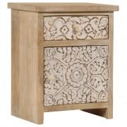 vidaXL Нощно шкафче, мангово дърво масив, 40х30х50 см