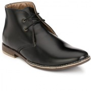 Eego Italy Men'S Black Lace - Up Boots