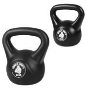 Gorilla Sports Voordeelset Kettlebells kunststof 12 en 16 kg