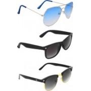 Zyaden Wayfarer, Aviator, Clubmaster Sunglasses(Black, Blue, Black)