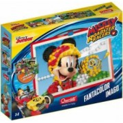 Joc creativ Fanta Color Imago Mickey and the Roadster Racers Disney Quercetti 300 piese