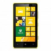Microsoft Nokia Lumia 820 Smartphone (10,9 cm (4,3 Zoll) Touchscreen, Snapdragon S4, Dual-Core, 1,5GHz, 1GB RAM, 8 Megapixel Kamera, Win 8) glänzend gelb