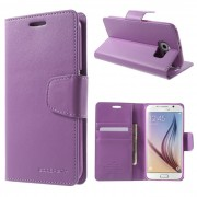 Korean Mercury Sonata Wallet Case for Samsung Galaxy S6 Edge - Purple