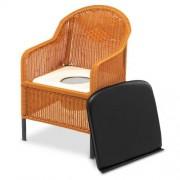 Chaise percée pour chambre en osier
