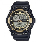 Casio Youth-Combination Analog-Digital Gold Dial Mens Watch-Aeq-200W-9Avdf