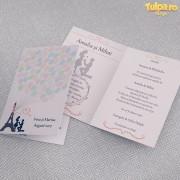 Invitaţie de nuntă Paris