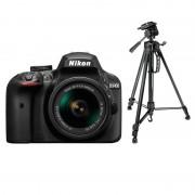 Digitalni foto-aparat Nikon D3400,Set (Sa 18-55mm VR AF-P),Crni + Stativ PHKP001