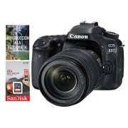 Canon Cámara Canon EOS 80D EF-S 18-135mm f/3.5-5.6 IS USM + Tarjeta SDHC 16GB UHS-1 Kit