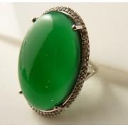 Inel argint piatra masiva onix verde -VR09959-2 (MASURI IN STOC ⤵: 52 mm circumferinta sau 16,6 mm diametru interior, Categorie: inele)