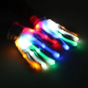 Multi-Color LED Flashing Gloves Electric Light Up Christmas Dance Performance Rave Party Fun Props