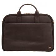 Pánská cestovní kožená business taška 1642 - Hnědá