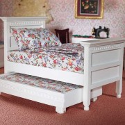 The Dolls House Emporium White Single Bed & Guest