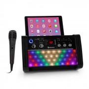 Auna DiscoFever 2.0 sistema de karaoke, BT, Disco-LED, reproductor CD-/CD+G negro (KS1-DiscoFever BK)