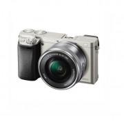 Aparat foto Mirrorless Sony Alpha A6000 24.3 Mpx WiFi NFC Silver Kit 16-50mm