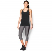 Under Armour Women's HeatGear Racer Tank Top - Black - L - Black