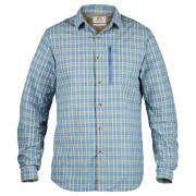 Fjällräven Abisko Hike Shirt LS (rutig) Herrskjorta Man Blue Ridge