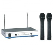 PROFESSIONAL LWM-1600 VHF DUAL CHANNEL WIRELESS MICROPHONE