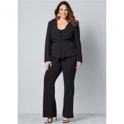 Plus Size Belted Pant Suit SET Pants - Grey